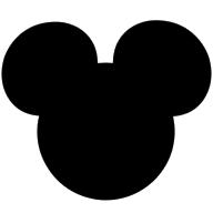 Disney logo in color black